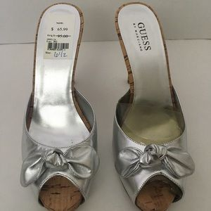 New Guess Silver Sandals size 6 1/2